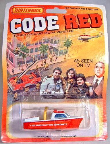MATCHBOX SUPERFAST États-Unis -  CODE rouge  série FIREBOAT Top sur carte