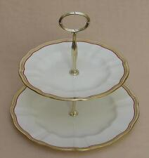"""Royal Crown Derby """"Carlton"""" (Red: A1301)  TWO TIER CAKE STAND"""