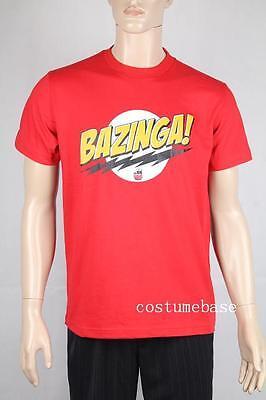 The Big Bang Theory Bazinga Logo Red T-Shirt tee M L XL XXL 100% Cotton New