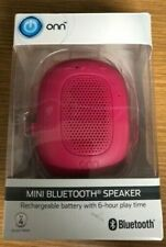 Rechargeable Onn Portable Mini Bluetooth Speaker with Hanging Strap