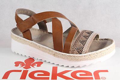 Rieker Damen Sandale Sandalette Sandalen Sandaletten braun V3263 NEU!!   eBay