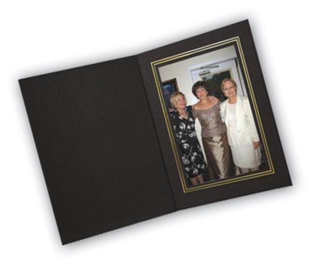 Cardboard Photo Folder 5x7 Pack Of 100 Black Gold Photo Storage And