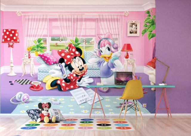 Disney Wallpaper mural for children\'s bedroom Minnie Mouse design photo wall