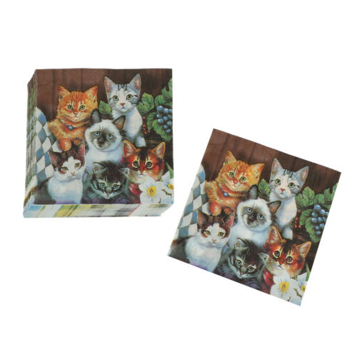 Cats Paper Napkin Festive Party Tissue Napkin Wedding Party Baby Shower RASK