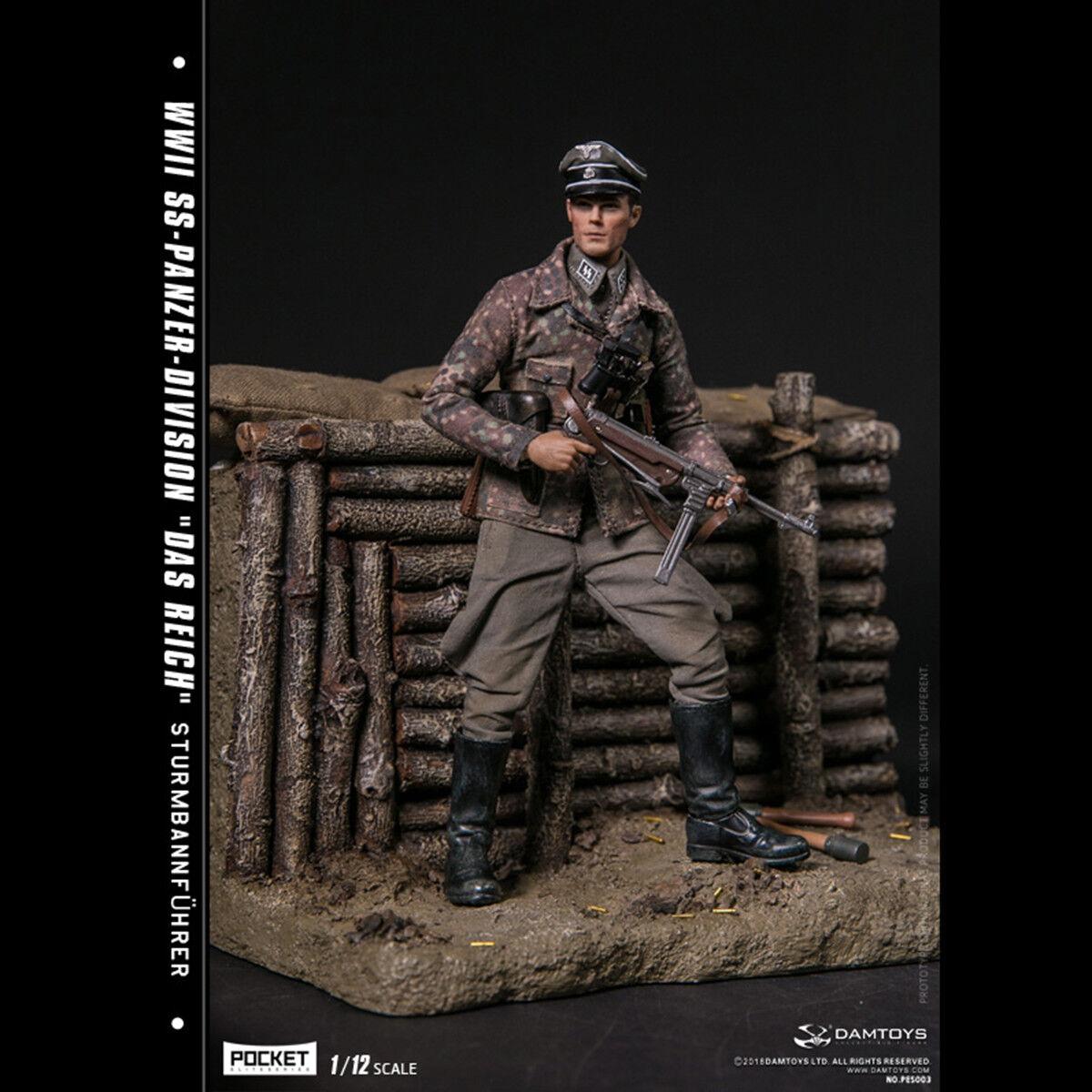 DAMTOYS 1 12 Pocket Elite Serie Segunda Guerra Mundial ss-Panzer-División Das Reich figura Juguetes