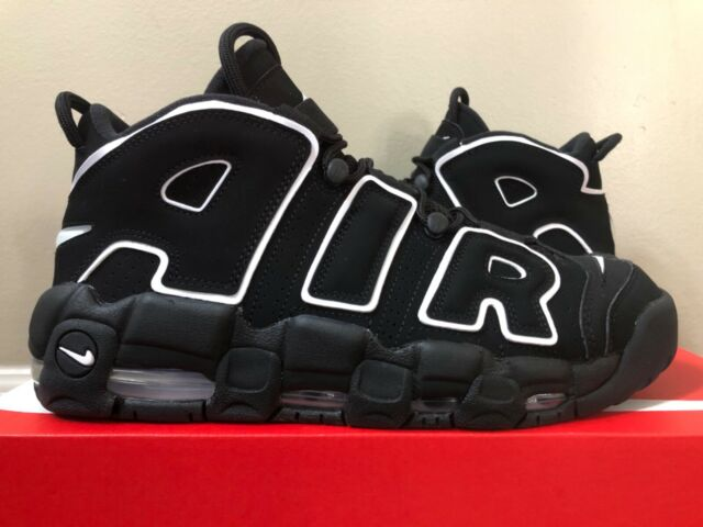 Nike Air More Uptempo Black White 414962-002 20 Pippen Size 8-13 100%  Authentic