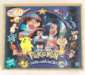 85c235a930e1 New Pokemon Jigsaw Puzzle Hasbro 1999 Ash Misty Team Rocket Articuno ...