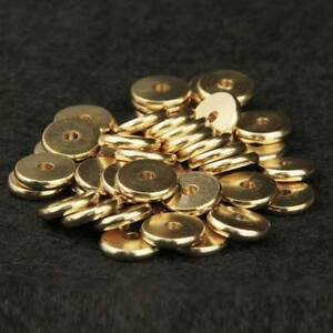 4-10mm-Gold-Plated-Brass-Metal-Spacer-Beads-Jewelry-Findings-Charms