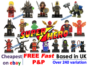 Details about Minifigures Super Hero Mini figures Marvel + FREE LEGO BRICK  UK Superheroes TOY