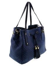 HS 2025 BL AGAPE Cobalt Blue Leather Tote/Shopper Bags