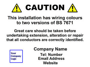 50 electrical personalised harmonised mixed wiring labels colour rh ebay co uk Cord Labels Data Cable Labels