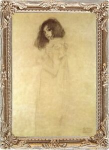 Klimt WOMAN SEPIA SKETCH Dollhouse Miniature FRAMED Picture - MADE IN AMERICA