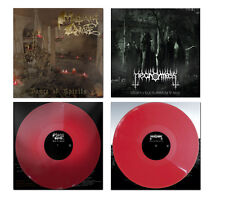 Mortuary Drape / Necromass - Split ++ LP, RED VINYL ++ NEU !!