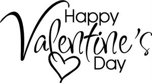 Happy Valentines Day Letters Sticker Vinyl Decal Word Ebay
