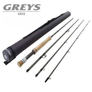 Greys-Gr50-4-PEZZI-superba-qualita-Fly-Canna-da-pesca-varie-taglie-CORDURA-TUBO