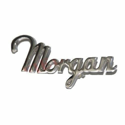 New Classic Morgan Car Script Badge Emblem Motif Chrome Plated