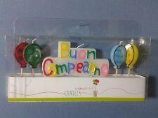 CANDELINA TORTA BUON COMPLEANNO CON PALLONCINI FESTA COMPLEANNO Happy Birthday