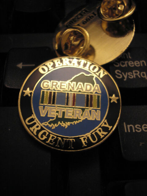 VETERAN HAT PIN -  OPERATION URGENT FURY - GRENADA VETERAN
