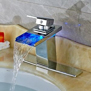 LED-Color-Switch-Chrome-Waterfall-Bathroom-Basin-Faucet-Vanity-Sink-Mixer-Cover
