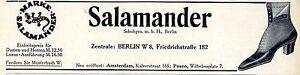 Salamander Schuhe * Neueröffnung in Amsterdam u. Posen 1911