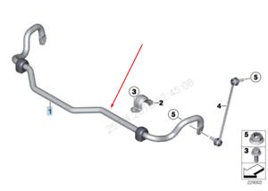 BMW-X3-F25-avant-Barre-Stabilisatrice-31356788710-6788710-2015-Neuf-D-039-Origine