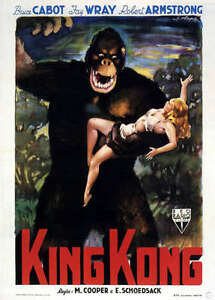 King Kong Classic Vintage  Poster QUALITY Canvas Art Print A4 colour Fay Wray