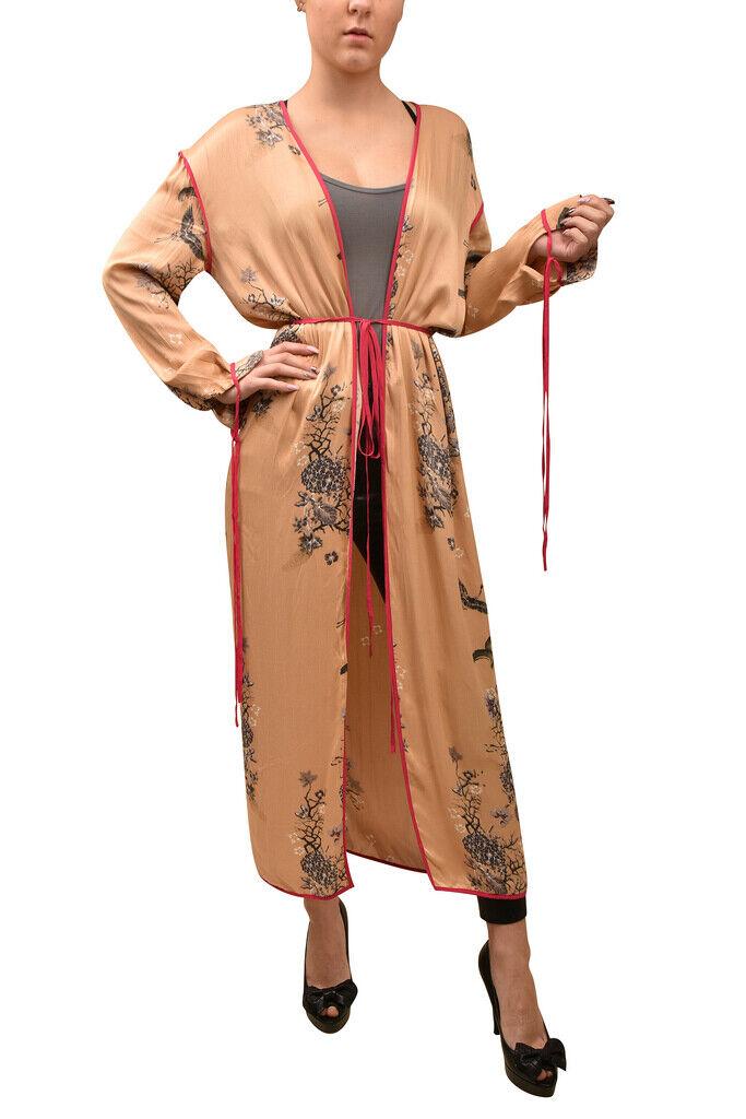 Free People damen Slim Duster Floral Kimono Strappy Beige Größe XS