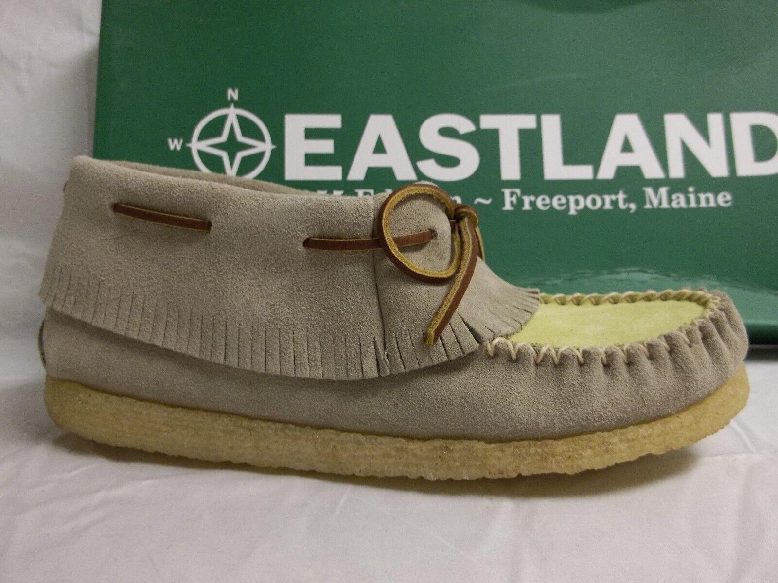Eastland Größe 6 M Casco Taupe Yellow Suede Moccasins NEU Damenschuhe Schuhes