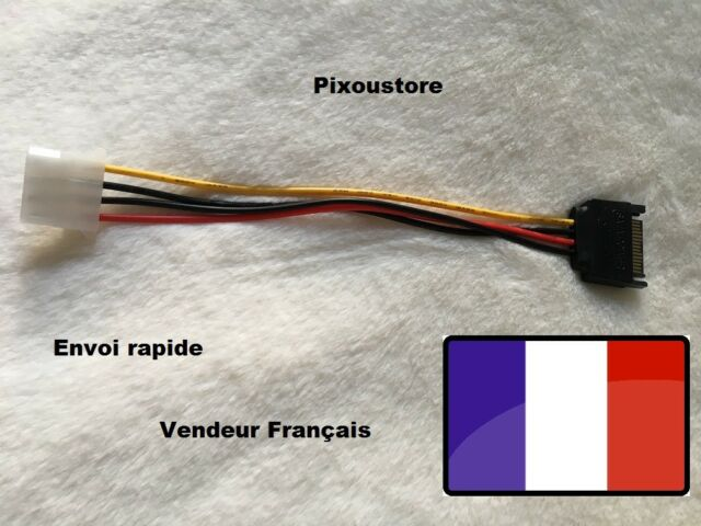 Adapter SATA 15p Male to 1x Molex Femelle. Power Cable