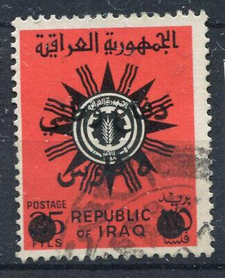 Intellective Iraq 1972 Mi. 20 Usato 100% Soprastampato 5 F, Difesa Nazionale Servizi