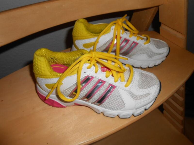 Schnelle Lieferung Adidas Turnschuhe Gr.29 Mädchen Gelb-weiß-silber-rosa Wow GläNzende OberfläChe