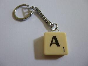 Genuine Scrabble Tile  Keyring - Gift Bag - Free UK Postage