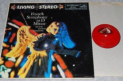 MUNCH Franck Symph. in D Minor RCA LIVING STEREO SD LSC-2131 13s/17s VG+ LP
