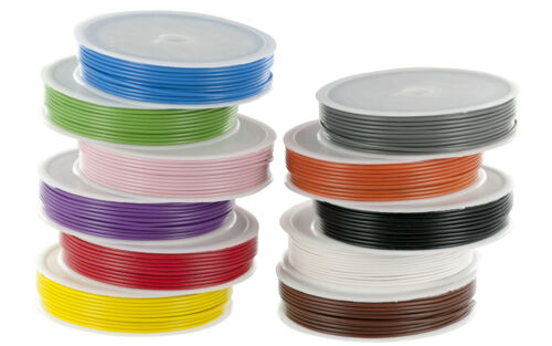 7//0.2mm Stranded Core Equipment //Hook up Wire 10m Spools Various Colours