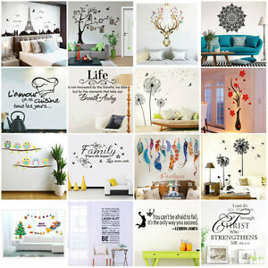 3D-DIY-Family-Art-Home-Decor-Removable-Vinyl-Quote-Wall-Sticker-Mural-Decal-Art