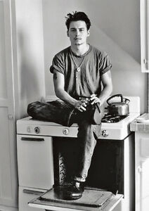 Young Johnny Depp Bw Cooker Poster Ebay