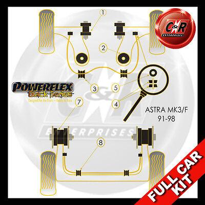 98-04 Powerflex Complete Bush Kit Vauxhall Astra MK4-Astra G 2.0T /& 2.2 Petrol