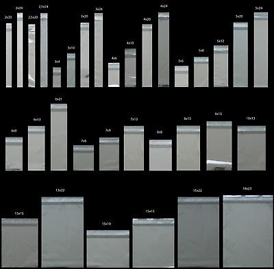 1000 Bustine trasparenti varie misure con zip richiudibili a binario