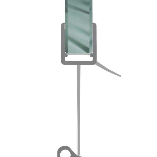 Duschdichtung Schwallschutz Duschtüre Dusche Streifdichtung cm 4-8mm Glas