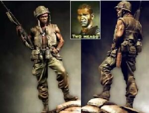 1-24-90mm-Resin-Figure-Model-Kit-US-Soldiers-Vietnam-War-2-heads-Unpainted
