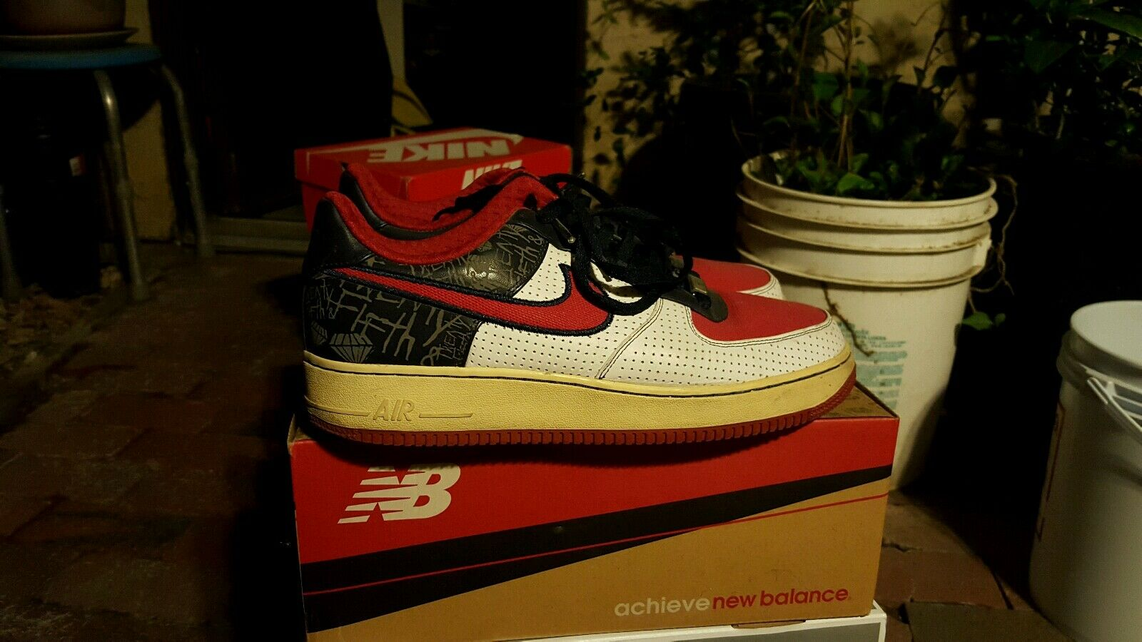 Nike Air Force 1 Philly 07 Red White bluee Sz 9