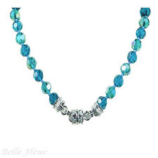 Kirks Folly Goddess Crystal Two-Tone Beaded Magnetic Necklace ~Fantasy Teal~ 17""