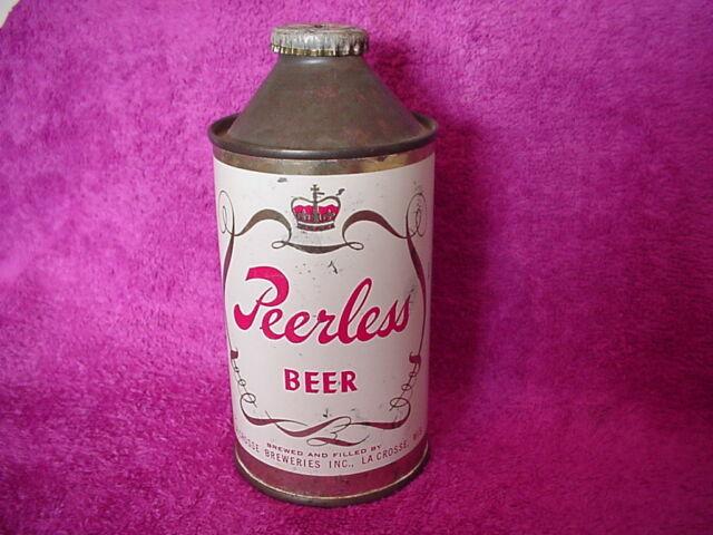 Peerless Cone Top Beer Can Hole in cap
