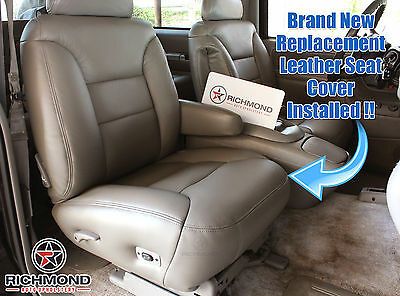 1998 Chevy Suburban LT LS Regular Cab Driver Side Bottom Leather Seat Cover Tan