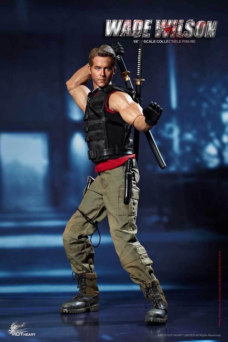 Deadpoo Hot Heart 1/6 FD003 Wade Warrior Wilson Movie Collectible Figure Hottoy