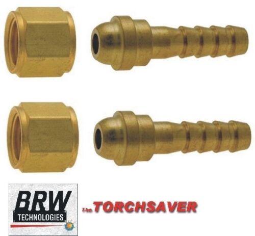 #B-250-RH-OXY Torch Fittings #7 B-size RH Oxygen nut /& #17 1//4 hose nipple