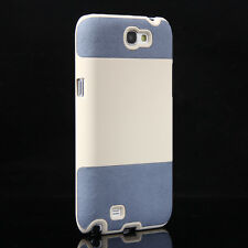 Hybrid Rugged PC PU Leather Hard Case Cover for Samsung Galaxy Note 2 II N7