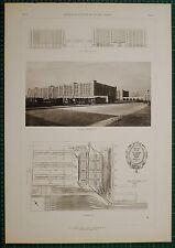 1920's ARCHITECTURE PRINT U.S ARMY SUPPLY BASE BROOKLYN CASS GILBERT PLAN