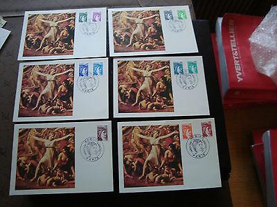 6 Karten 1 Konstruktiv Frankreich sabine Französisch Tag 31/3/1978 cy48