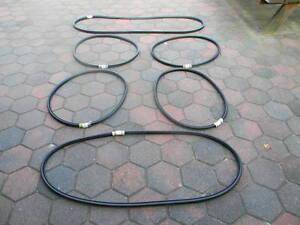 6-Teilige-fensterscheiben-dichtsatz-VW-412-Variant-mit-nut-fur-Aluminium-leiste